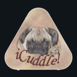 """Adorable iCuddle Pug Puppy Bluetooth Speaker<br><div class=""""desc"""">Adorable photograph of a little pug puppy resting her chin on the caption &quot;iCuddle!&quot; on an iPhone 6 case. Perfect pug gift for the pug mom or dad!</div>"""