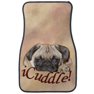 Adorable iCuddle Pug Puppy Car Floor Mat