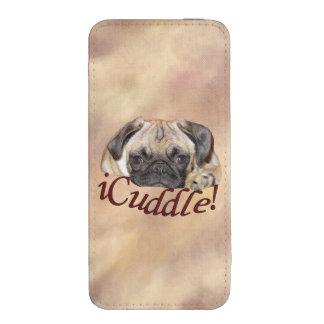 Adorable iCuddle Pug Puppy iPhone SE/5/5s/5c Pouch