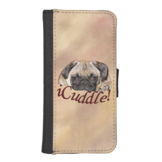 Adorable iCuddle Pug Puppy iPhone SE/5/5s Wallet Case