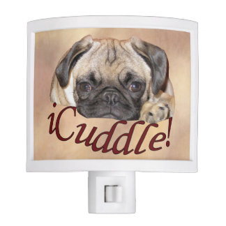 Adorable iCuddle Pug Puppy Night Light