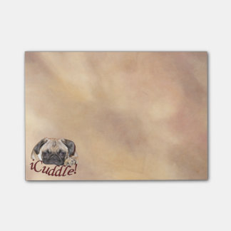 Adorable iCuddle Pug Puppy Post-it® Notes
