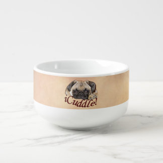 Adorable iCuddle Pug Puppy Soup Mug