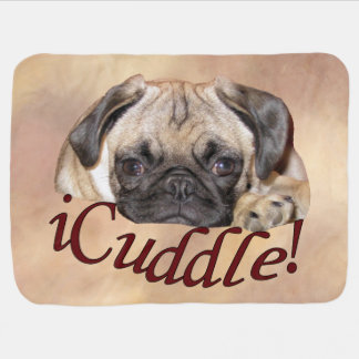 Adorable iCuddle Pug Puppy Stroller Blanket
