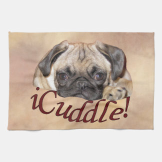 Adorable iCuddle Pug Puppy Towels