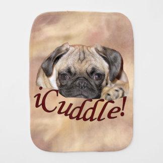 Adorable iCuddle Pug Puppy Baby Burp Cloths