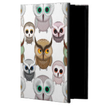 Adorable Illustrated Owls Pattern Case For iPad Air