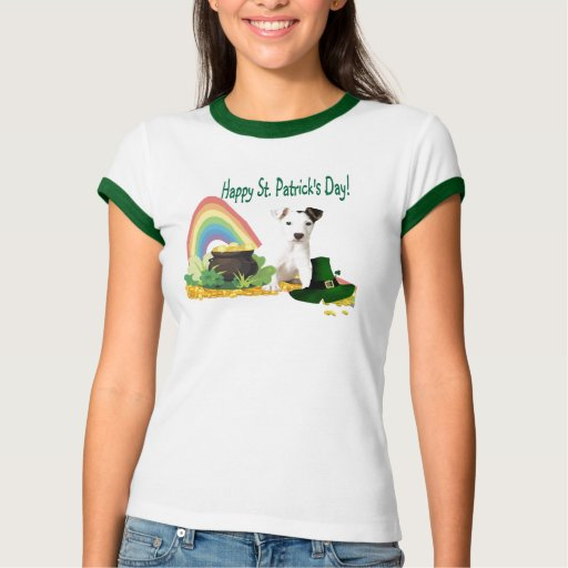 Adorable Jack Russell St Patrick's Day Tee Shirt