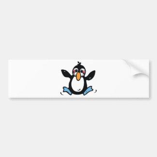 Adorable Jumping Penguin Bumper Sticker
