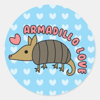 Adorable Kawaii Armadillo Sticker