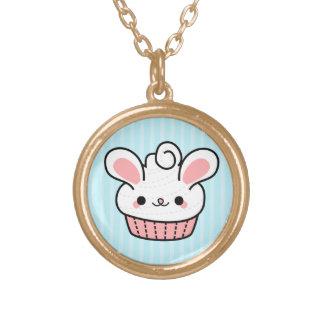 Adorable Kawaii Bunny Cupcake Necklace