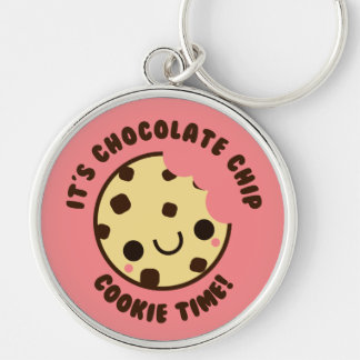 Adorable Kawaii Chocolate Chip Cookie Keychain