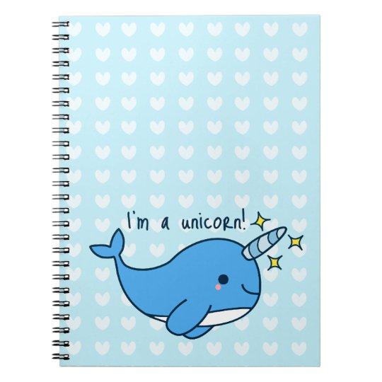 Adorable Kawaii Narwhal Notebook