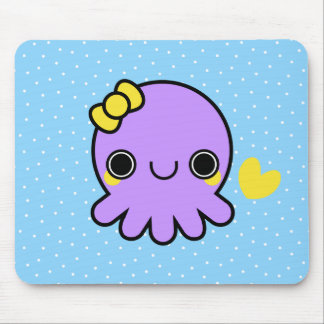 Kawaii octopus mouse pads zazzle for Cute octopus drawing