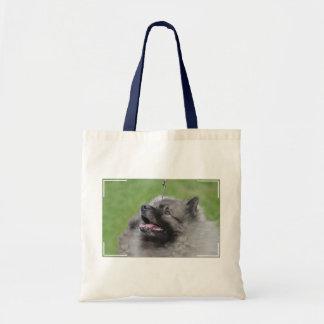 Adorable Keeshond Canvas Bags