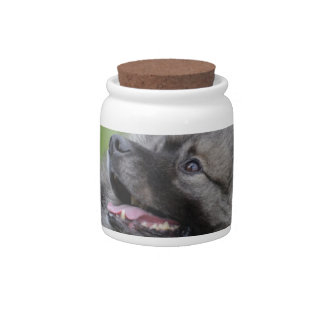 Adorable Keeshond Candy Dishes