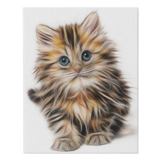 Adorable Kitten Painting Canvas Print