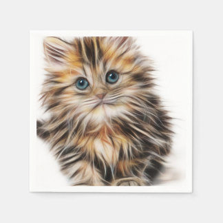 Adorable Kitten Painting Napkin