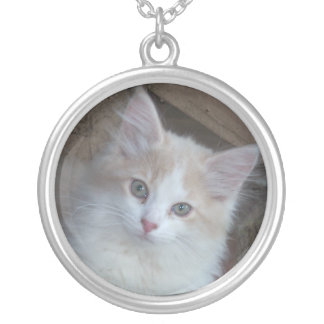 Adorable Kitten Silver Plated Necklace