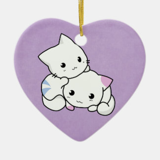 Adorable kittens hanging ornament