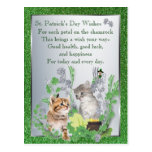 Adorable Kittens Health Luck Happiness Version 2 Post Card