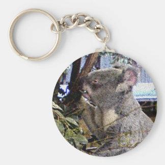 Adorable Koala Basic Round Button Keychain