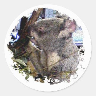 Adorable Koala Classic Round Sticker