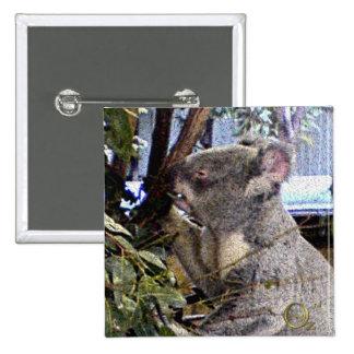 Adorable Koala Pinback Buttons