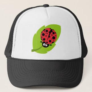 Adorable Ladybug on a Leaf Trucker Hat