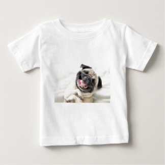 Adorable Laughing Pug design Baby T-Shirt