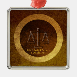 Adorable Lawyer Gift | Scales of Justice Metal Ornament