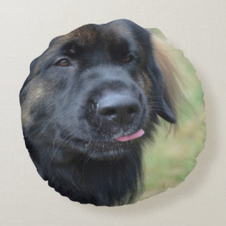 Adorable Leonberger Round Pillow