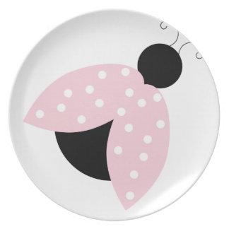 Adorable lindo adaptable del punto rosado de la ma platos para fiestas