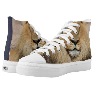 Adorable Lion High-Top Sneakers