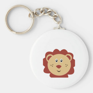 Adorable Lion Little Zoo Basic Round Button Keychain