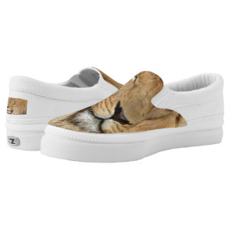 Adorable Lion Slip-On Sneakers