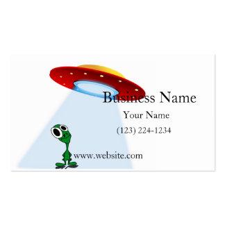 Adorable Little Alien & Flying Saucer Business Card