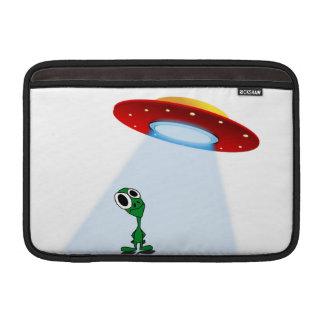 Adorable Little Alien & Flying Saucer MacBook Sleeve