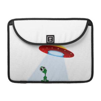 Adorable Little Alien & Flying Saucer Sleeve For MacBook Pro