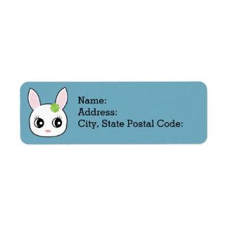 Adorable little bunny face label