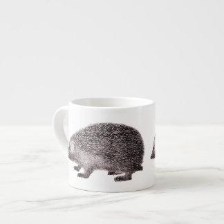 Adorable Little Hedgehog Hedgie from Antique Print Espresso Cup