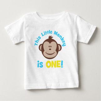 Adorable Little Mod Monkey Boys 1st Birthday Shirt