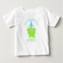 Adorable Little Monster First Birthday T-Shirt