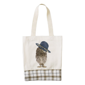 Adorable little mountie owl - magnifying glass zazzle HEART tote bag