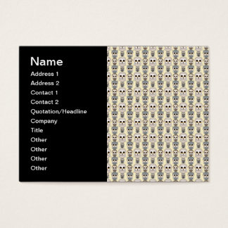Adorable Little Owls Pattern on Light Yellow Business Card