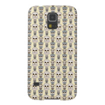 Adorable Little Owls Pattern on Light Yellow Galaxy S5 Cover