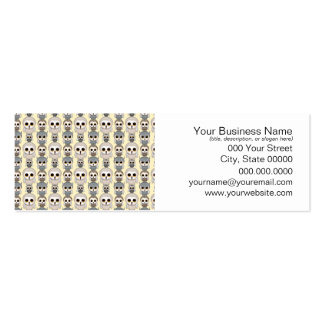 Adorable Little Owls Pattern on Light Yellow Mini Business Card
