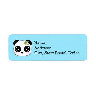 Adorable little panda face return address label