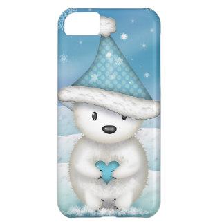 Adorable Little Polar Bear with Heart iPhone 5C Cover