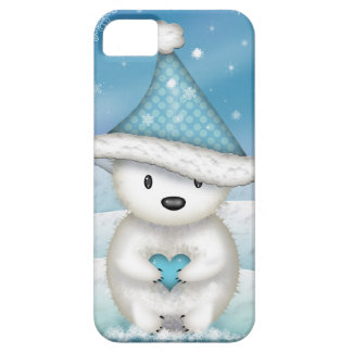 Adorable Little Polar Bear with Heart iPhone SE/5/5s Case